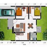 Denah Rumah Minimalis Type 36 Dua Kamar