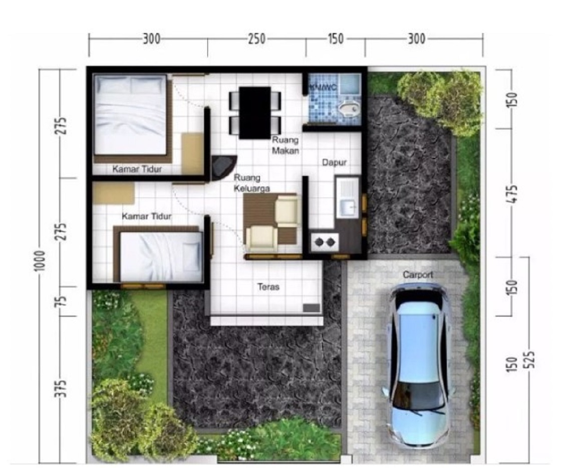 √ 60 Gambar Denah Rumah Minimalis Modern Trend 2020
