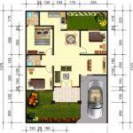 Denah Rumah Minimalis Ukuran 6x9