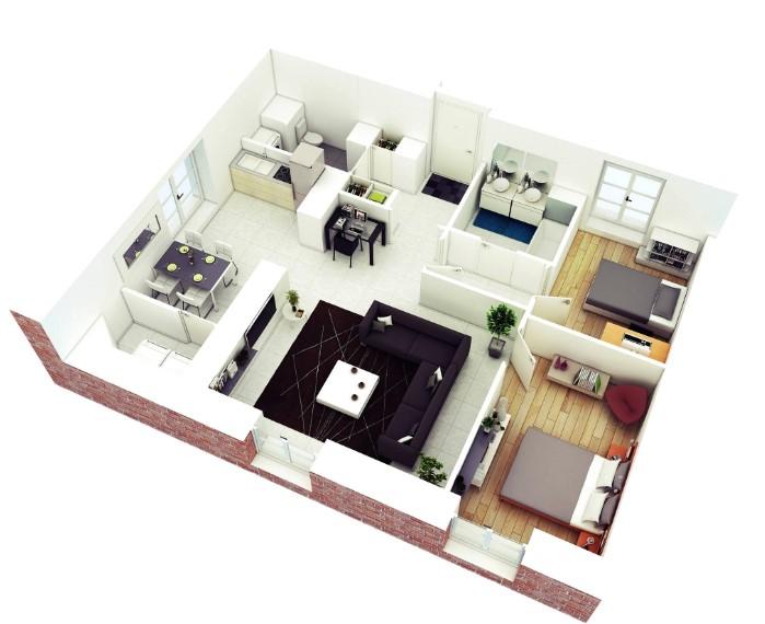 Desain Ruangan Rumah Minimalis 3 Kamar