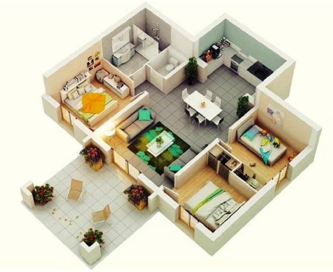 Desain Rumah Minimalis 3 Kamar Sederhana