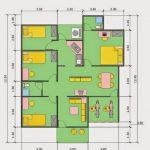 Desain Rumah Minimalis 3 Kamar Tidur Ukuran 6x12