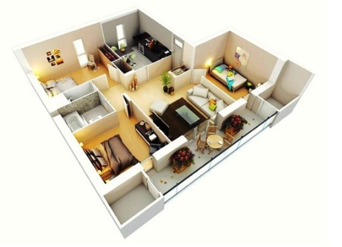 Desain Rumah Minimalis 3 Kamar Type 36
