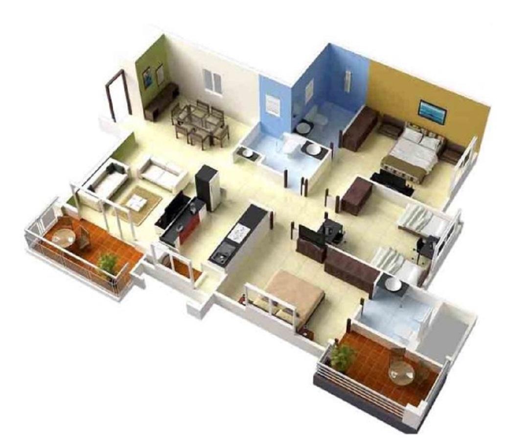 Desain Rumah Minimalis 3 Kamar Ukuran 7x10