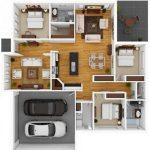 Desain Rumah Minimalis 3 Kamar dan Garasi