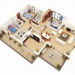 Desain Rumah Minimalis 3 Kamar dengan Mushola