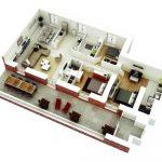 Desain Rumah Minimalis 3 Kamar dengan Teras Memanjang