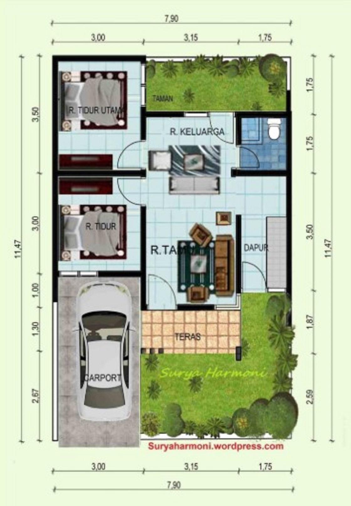 Desain Rumah Minimalis Modern 3 Kamar Tidur