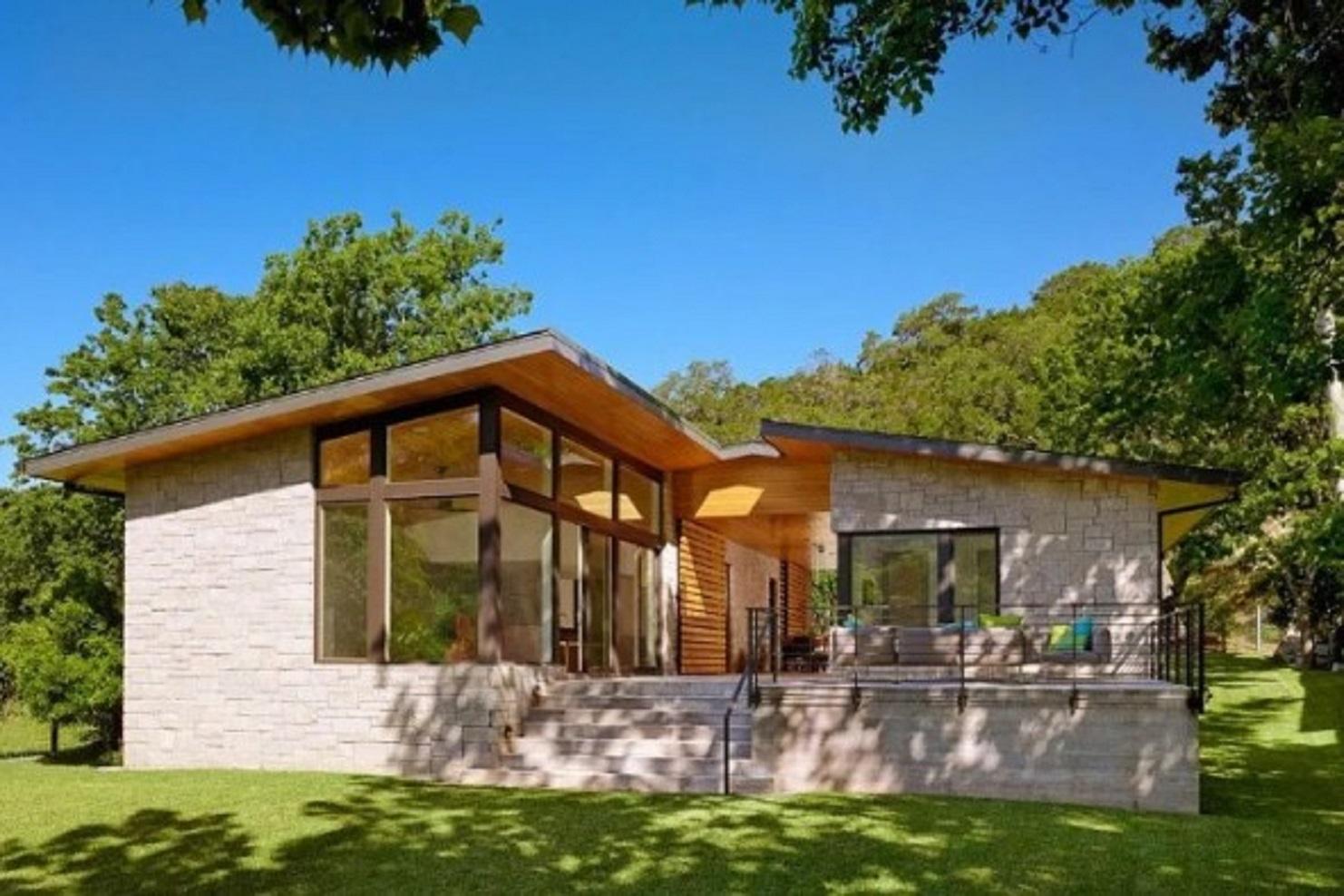 Desain Rumah Minimalis Sederhana dengan Sentuhan Batu Alam
