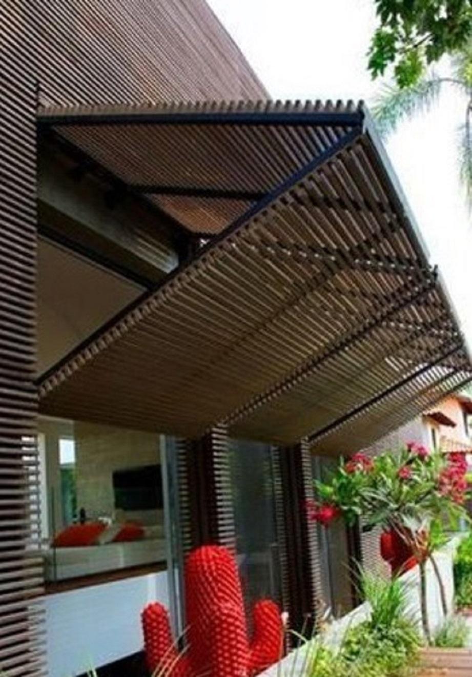Desain Teralis Jendela Bambu