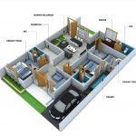 Gambar Denah Rumah 3 Kamar
