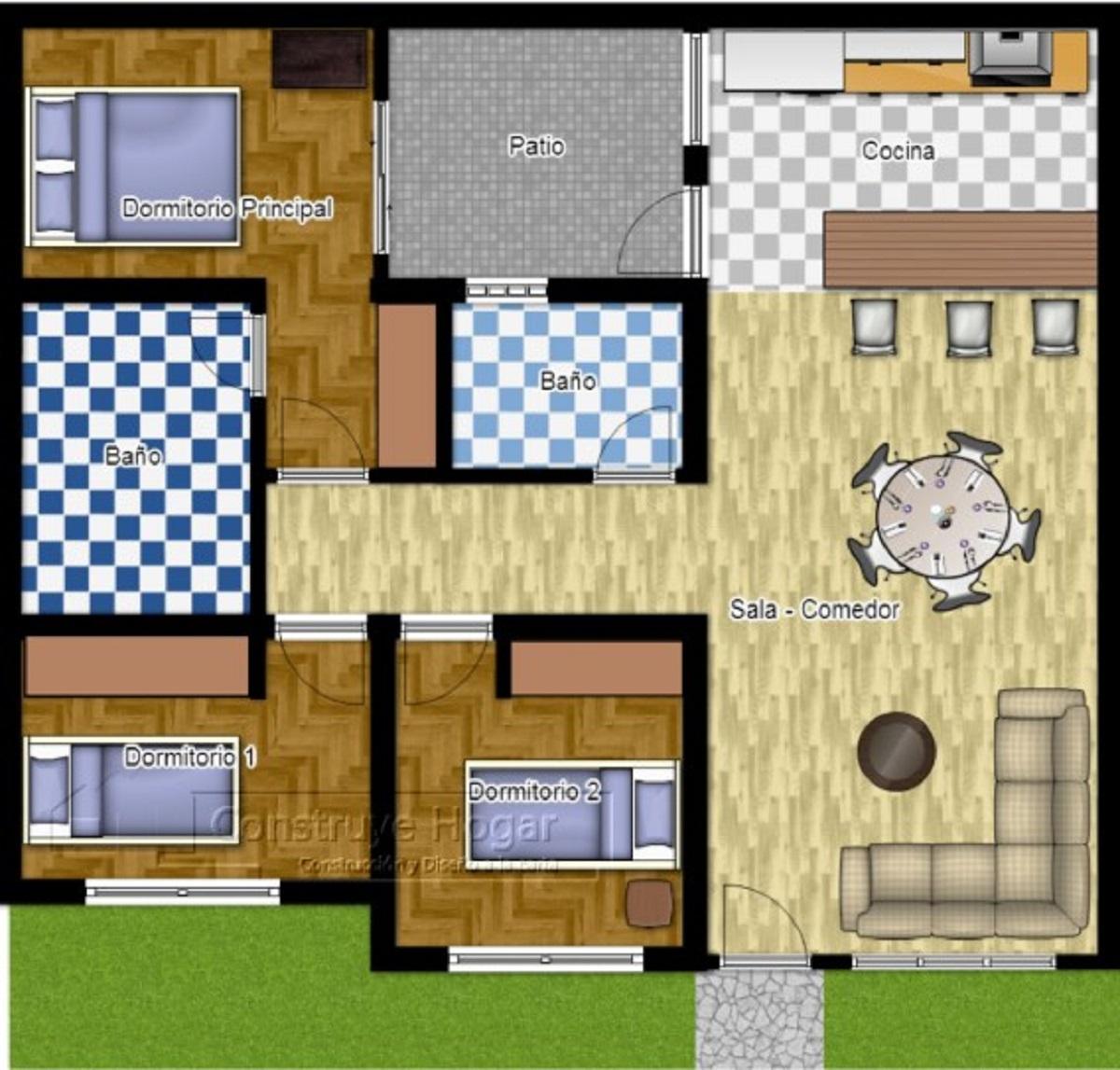 Gambar Denah Rumah 3 Kamar Tidur