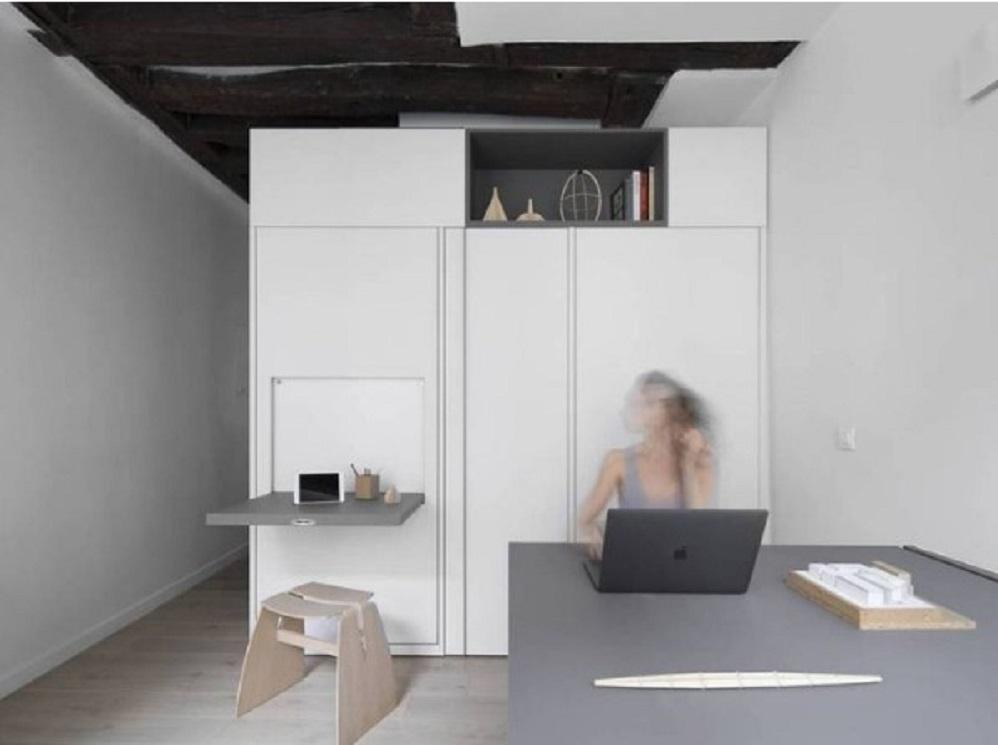 Kabinet multifungsi untuk ruang ekstra sebagai dekorasi rumah minimalis sederhana