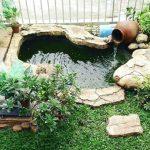 Kolam Mini di Taman Minimalis