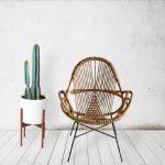 Kursi rotan untuk sudut rumah minimalis yang elegan