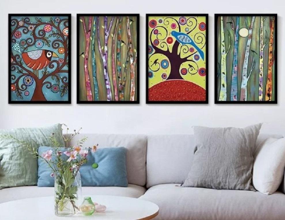 Penuh seni dengan dekorasi berupa lukisan dinding