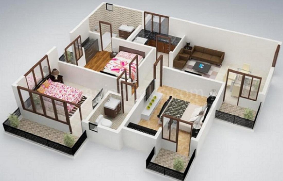 Rumah Minimalis 3 Kamar Tidur 1 Lantai