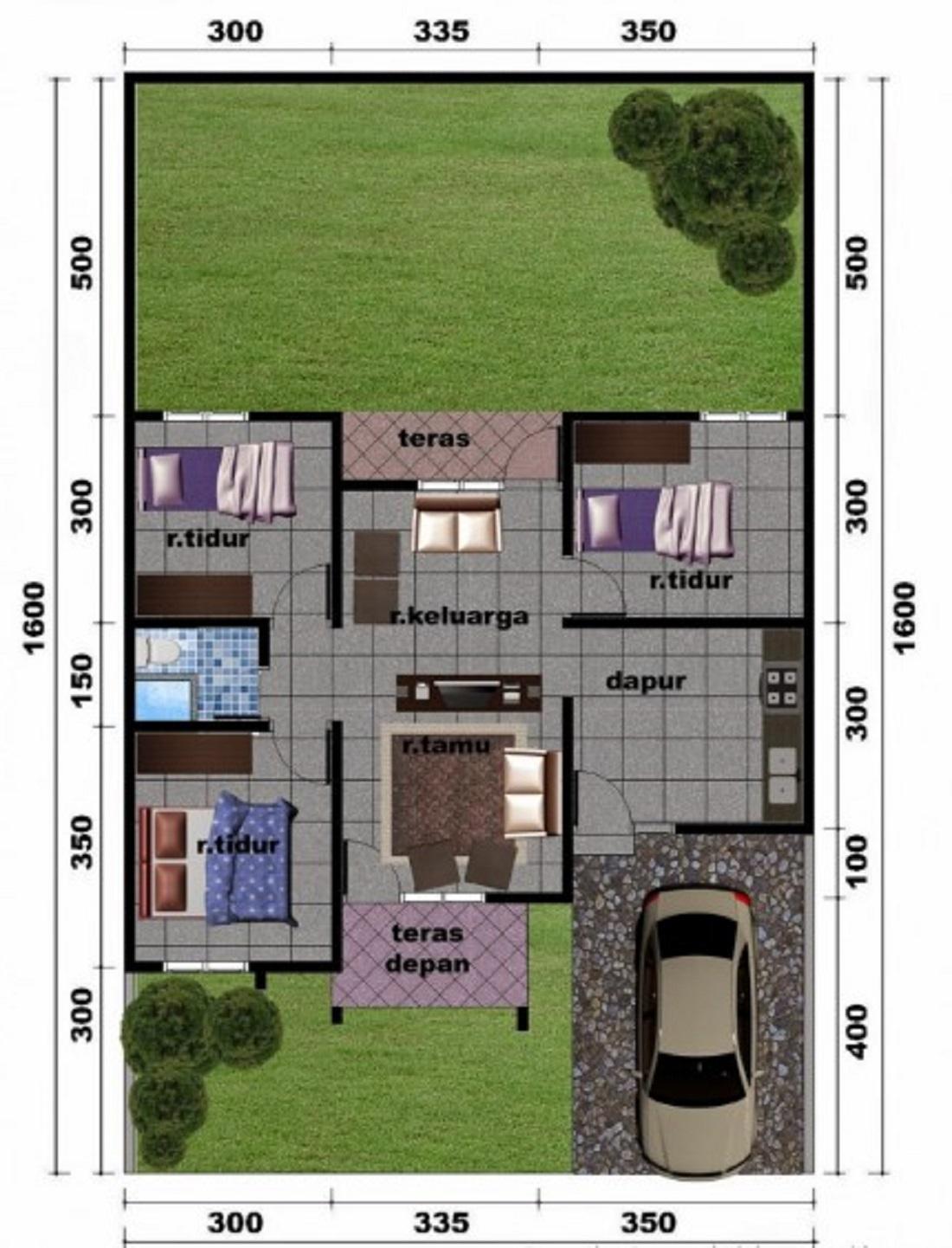 Rumah Minimalis 3 Kamar Tidur Dan Garasi