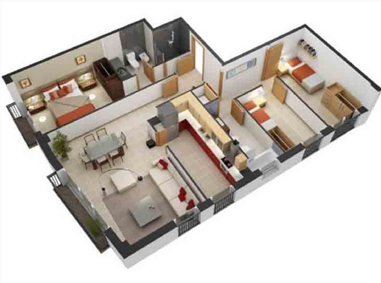 Rumah Minimalis Sederhana 3 Kamar Tidur