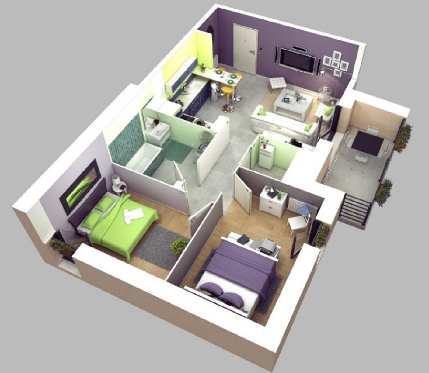 51 Gambar Rumah Sederhana 3 Kamar Gratis Terbaik