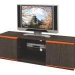 Expo Meja TV Laci Minimalis 7510 Cokelat Sandalwood Oranye