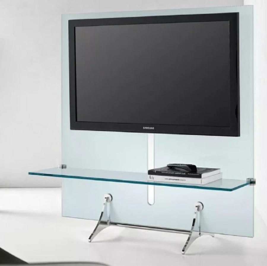 Kabinet Tv Kaca Bening Transparan Minimalis