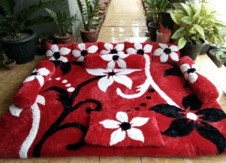 Karpet Bulu Rasfur Motif Bunga