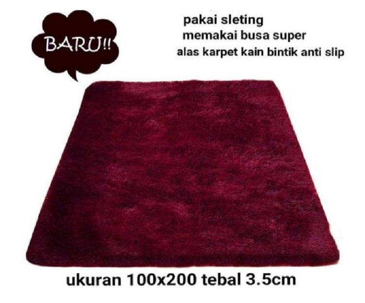 Karpet Bulu Rasfur Ukuran 100 x 200 Dengan Tebal Keseluruhan 3,5 cm