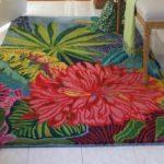 Karpet Lantai Plastik Motif Bunga