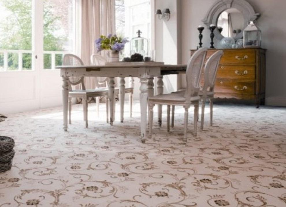 Karpet Lantai Vinyl Motif Bunga