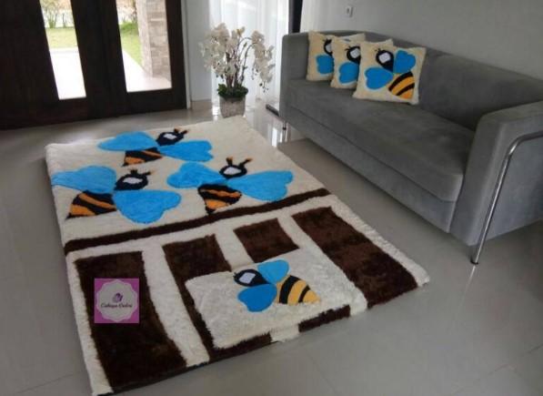 Karpet Matras Bulu Rasfur Motif