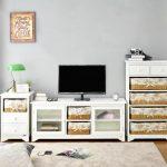 Livien Meja TV Mooi Glass Dresser