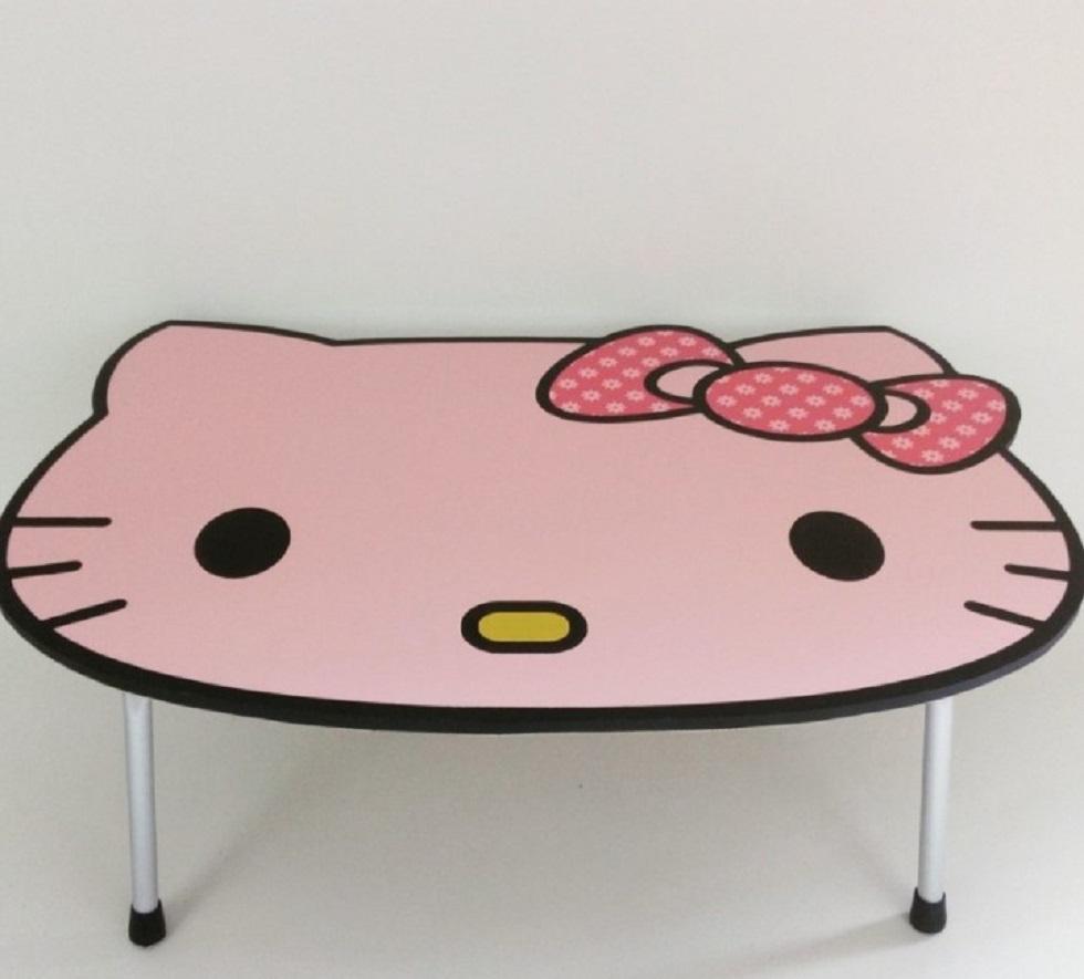 Meja Belajar Lipat Karakter Hello Kitty