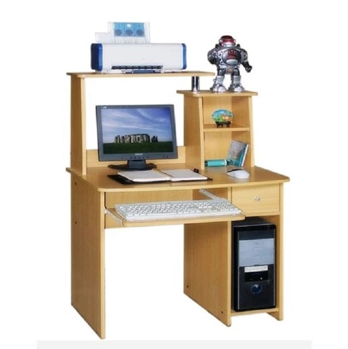 Meja Kayu 3 Susun untuk Komputer