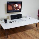 Meja Komputer Gaming Lesehan Warna Putih