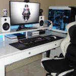 Meja Komputer Gaming Minimalis Putih