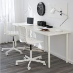 Meja Komputer Ikea Linnmon ( Adils )