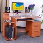 Meja Komputer Kayu Desain Full Set
