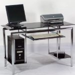 Meja Komputer Stylish Desk Rangka Full Besi