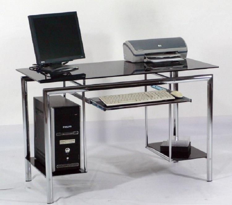Meja Komputer Stylish Desk Rangka Full Besi