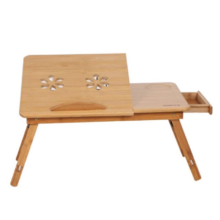 Meja Laptop Portable Material Bamboo