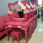 Meja Rias Desain Hello Kitty Semi Duco