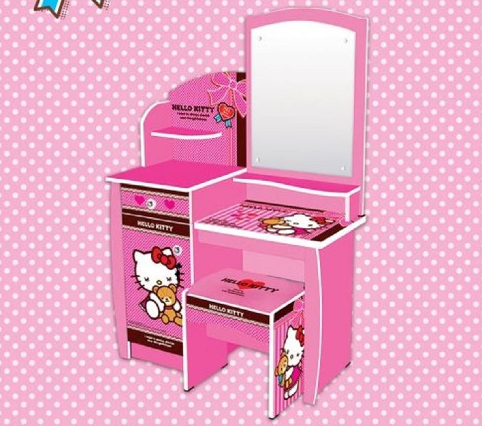 Meja Rias Model Hello Kitty Full Sticker DIY