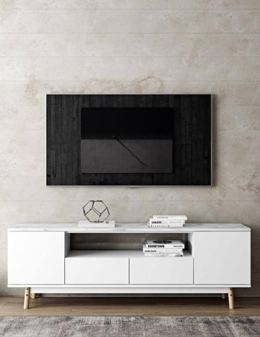 Model Meja Tv Stand Holder Aluminium