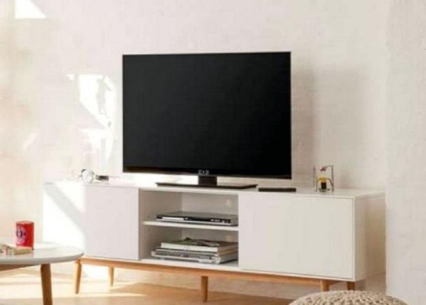 Rak TV Kayu Minimalis Modern