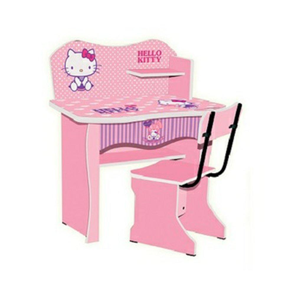 Set Meja Belajar Anak Hello Kitty
