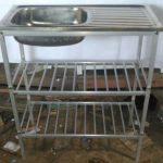 Bak Cuci Piring stainless rak double aluminium
