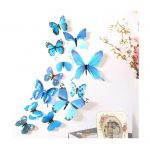 Extreme 3D Butterfly Rainbow PVC Wallpaper New Qualified Wall Stickers Decal for Living Room
