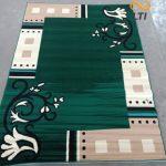 Karpet Permadani karakter Abstrak Lokal MURAH Moderno Hijau
