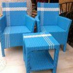 Kursi Sofa Ruang Tamu Teras Kantor Minimalis Panjang Keluarga Rotan